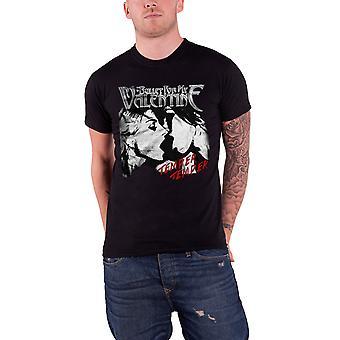 Kogel voor mijn Valentijn Temper Temper Kiss officiële Mens nieuwe zwarte T Shirt