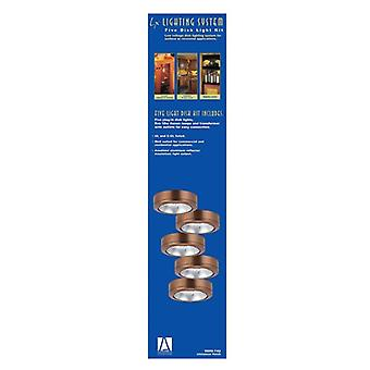 Sea Gull 9890-742 Ambiance LX Five-Light Plug-in Xenon Disk Light Kit, Cinnamon