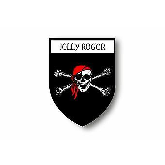 Adesivo adesivo Auto auto Blason Città Pirata Bandiera Jolly Roger