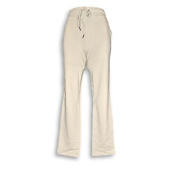 Denim & Co. Women's Active French Terry Full Length Beige A351574