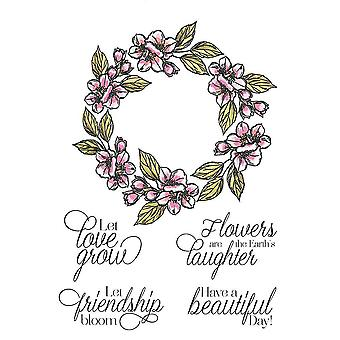 Crafter's Companion A6 Rubber Stamp - Let Love Grow