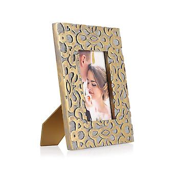 Penguin Home Handcrafted Carved mango wood photo frame
