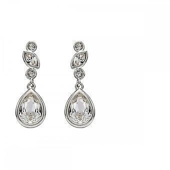 Elements Silver Silver And Crystal Swarovski Bridal Earrings E5692C
