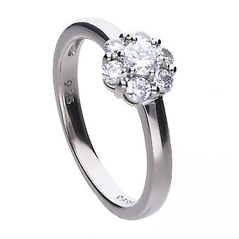 Diamonfire Silver White Zirconia Theme Ring R3640