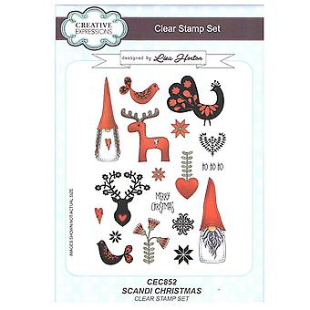 Creative Expressions Scandi Christmas A5 Clear Stamp Set