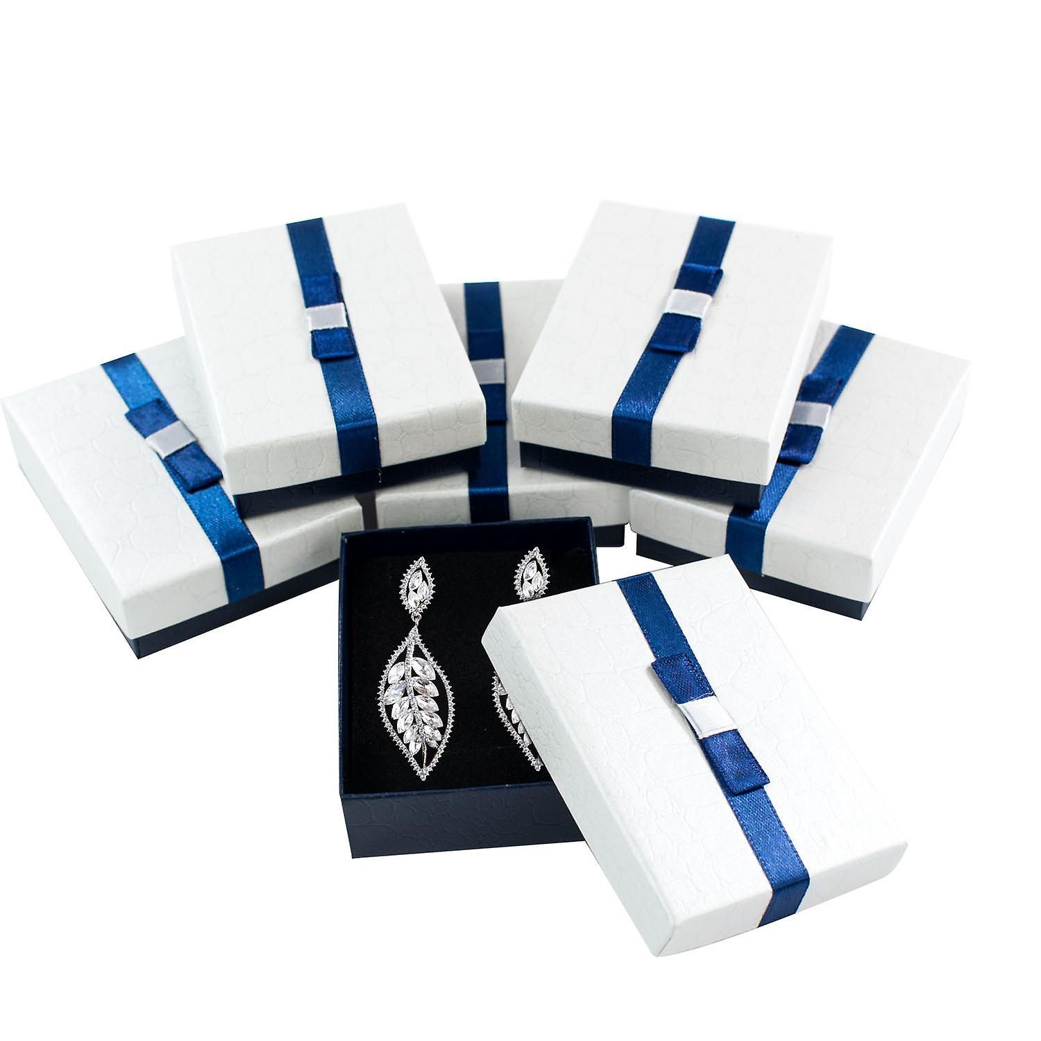 TRIXES 6PC Jewellery Box for Necklaces Rings Earrings Display  9 x 7 x 3cm