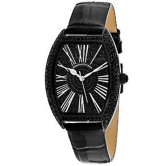 Christian Van Sant Frauen's Chic Black Dial Uhr - CV4844