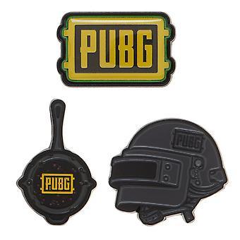 Pin - PUBG - Lapel Set of 3 New lp7dr8pub