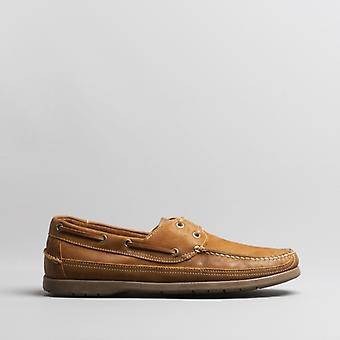 Anatomic & Co. Viana Mens Leather Deck Shoes Castor Brown