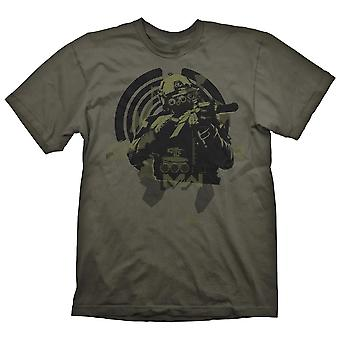 Call of Duty Soldier in Focus T-Shirt Male Large Green (GE6541L)