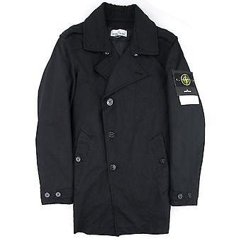Stone Island 45249 David-TC Primaloft Insulation Short Trench Coat Black V0029