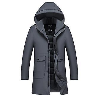 Allthemen Men's Solid Detachable Hat Thick Warm Padded Jacket