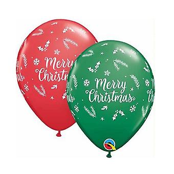 Qualatex Latex Christmas Balloons (Pack of 25)