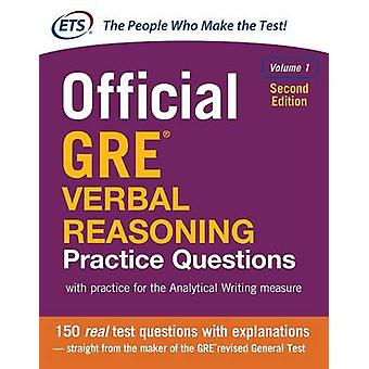 Official GRE Verbal Reasoning Practice Questions Second Edi by ETS