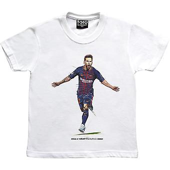 Lionel Messi -Quot;The Record Breaker-quot; White Kids-apos; T-Shirt