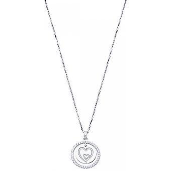 Lotus Silver MYSTIC LP1954-1-1 necklace - C?ur Grav and Zircon Women's Collar