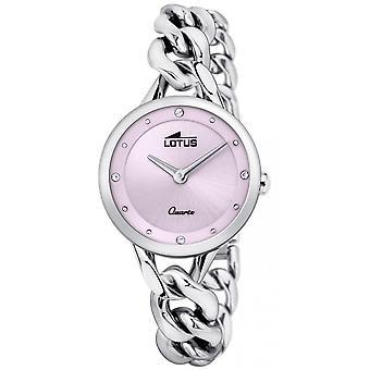Lotus Watch L18721-3 - TRENDY Silver Steel Dial Pink Women