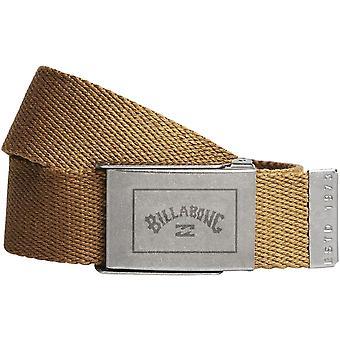 Billabong Woven Cotton Web Belt With Bottle Opener ~ Sergeant gravel 2