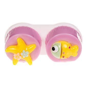 Caso da lente de contato do peixe lilás