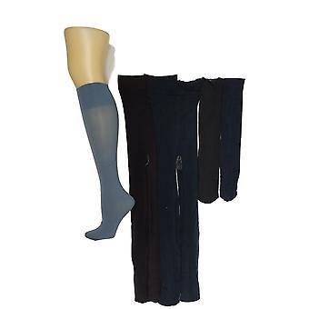 Legacy Women's D Set De 2 medias de microfibra y 3 calcetines de pantalón azul A370509