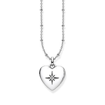 Thomas Sabo Sterling Silver Thomas Sabo Silver Heart Locket Necklace D_KE0035-356-14-L45v