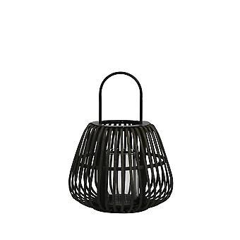 Light & Living Hurricane 29x37cm Mosta Bamboo Black With Handle