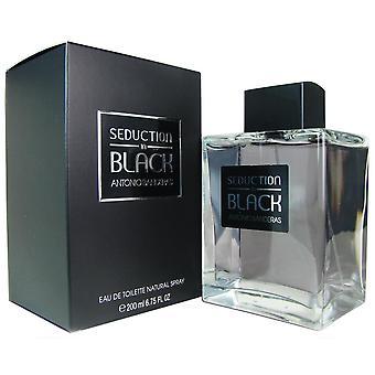 Seduction in black for men by antonio banderas 6.75 oz eau de toilette spray