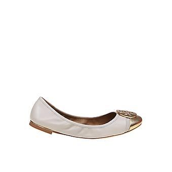 Tory Burch 63177253 Women's White/gold Leather Pumps