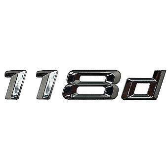 Silver Chrome BMW 118D Car Model Rear Boot Number Letter Sticker Decal Badge Emblem For 1 Series E81 E82 E87 E88 F20 F21 F52 F40