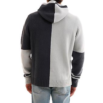 Stone Island 7115509b7v0064 Men's White/black Wool Sweater