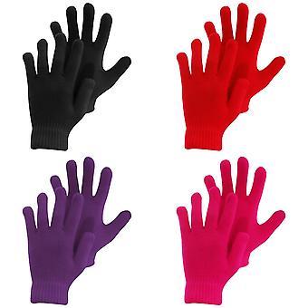 Childrens/Kids Knitted Winter Magic Gloves