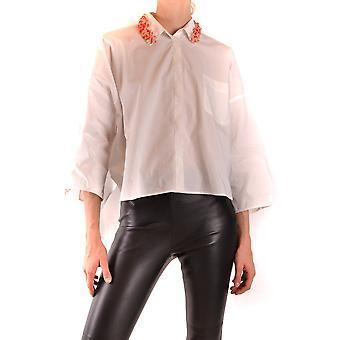 Pinko Ezbc056295 Kvinder's Hvid bomuldsskjorte