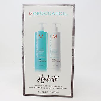 Moroccanoil Hydrate Shampoo & Conditioner Duo, 16,9 oz / 500 ml hver, ny i boks