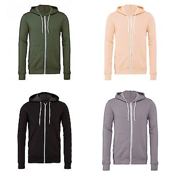 Bella + Canvas Adults Unisex Full Zip Hoodie