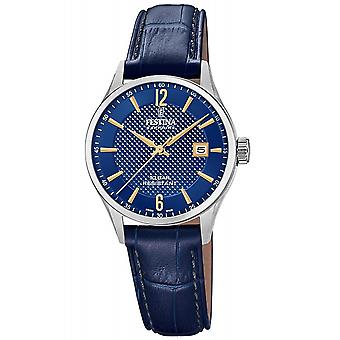 Festina Swiss F20009-3 Swiss Made Women's Blue Strap Wristwatch