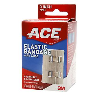 3m ace brand elastic bandage with clips, 3 inch, 1 ea
