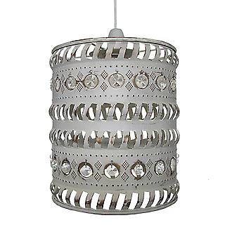 Moroccan Pendant Shade - Clear Jewels & French Gold