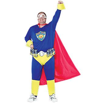 Mens Beer Man Plus Size Superhero Fancy Dress Costume