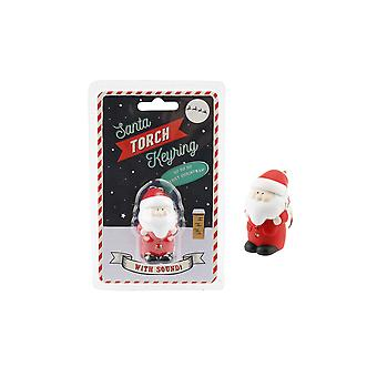 CGB Giftware Father Christmas Torch Keyring Light