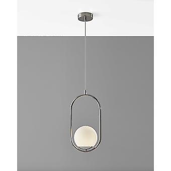 Hanging Globe Light in Loop Pendant