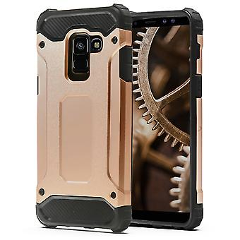 Shell of Samsung Galaxy A8 (2018) / A5 (2018) Rosegold Armor Protection Case Hard