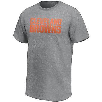 Cleveland Browns NFL Fan T-Shirt Wordmark Logo grau