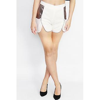 Serpent siren white shorts