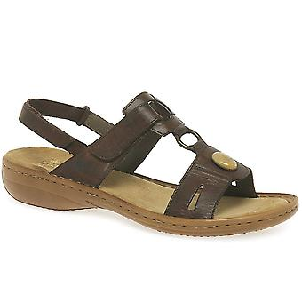 Rieker Regina Maronne Leather Sandal 60874