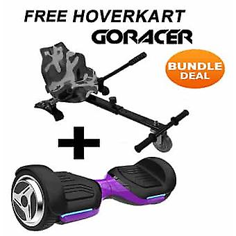 G PRO Purple Segway with a Racer Camo Hovercart