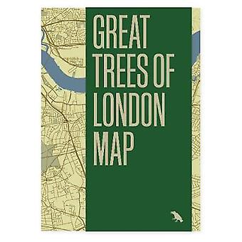 Great Trees of London Map by Paul Wood - 9781912018765 Book