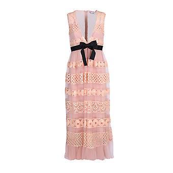 Red Valentino Tr0va13b51r377 Women's Pink Polyester Dress