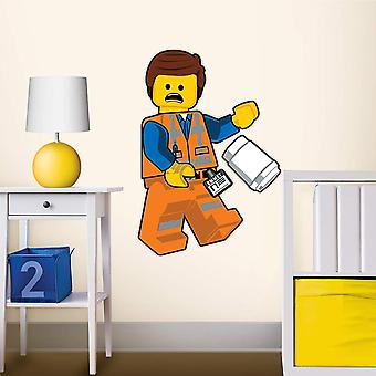 Lego Movie Emmet Staticker Wall Decal Sticker Väggdekor 46x35cm