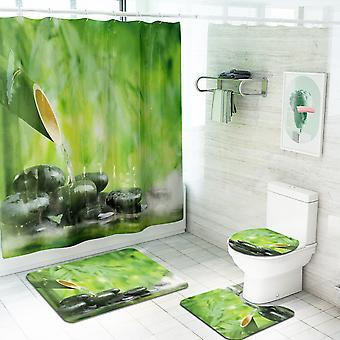 4 Piece Farmland Shower Curtain Set