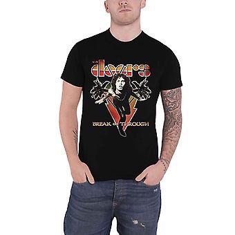 The Doors T Shirt Break On Through Vintage Band Logo new Official Mens Black